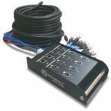 Snake de 8 envios y 4 retornos, cable de 30 metros, Stagebox incluido., Caja de distribución de acero reforzado