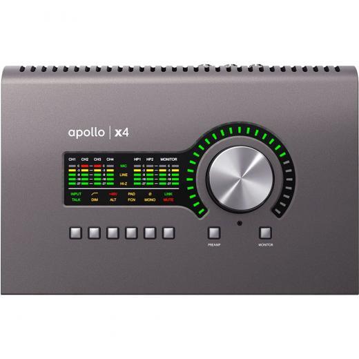 12 entradas / 18 salidas, 24 bits / 192 kHz, interfaz de audio Thunderbolt 3 con procesador QUAD Core de 4 núcleos, conversión AD / DA de clase Elite, 2 preamp Unison, Mac / PC AAX 64, VST, AU, RTAS