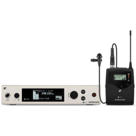 Sistema inalámbrico Evolution G4 serie 100 con micrófono lavalier ME 2-II, transmisor de cuerpo SK 100 G4 y receptor EM 100 G4 de montaje en bastidor - Banda A (516-558 MHz)