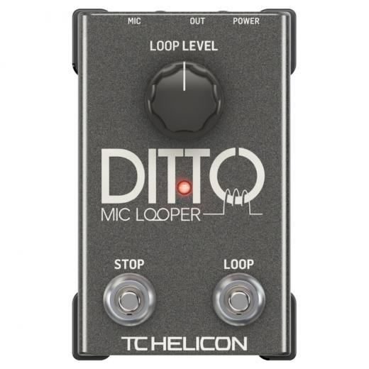 Pedal Looper para micrófonos con ganancia automática de micrófono, alimentación fantasma e interruptores dedicados de parada / borrado y bucle