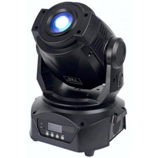 Fuente de luz: LED blanco 75W alta potencia, Tiempo de vida : 50.000 horas, Ángulo de haz : 14 °, Panel de control : pantalla LCD + rueda de control