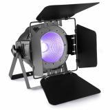 LED UV de alta potencia, para múltiples aplicaciones, ideal para reemplazo de tubos o equipos UV de descarga. Cuenta con 1 COB LED UV de 100W, puede ser manejado vía DMX-512 o automático.