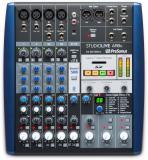 Mezclador analógico de 8 canales con grabadora SD estéreo de 24 bits / 96 kHz, ecualizador de 3 bandas, efectos incorporados, interfaz de audio USB de 8 entradas / 4 salidas, Studio One Artist DAW y Studio Magic Plug-in Suite - Mac /PC