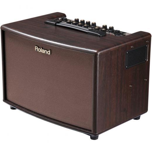Amplificador de guitarra acústica estéreo con reverberación, coro y antiretroalimentación automática