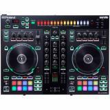 Controlador de DJ de 2 canales y 4 plataformas para Serato con sonidos de batería de la serie TR incorporados con interfaz de pad TR-S, secuenciador, 8 pads