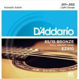 Set 6 Cuerdas Broncee Guitarra acustica/electroacustica .011-.052, tension normal, tono de rango completo con entonación precisa y gran proyección