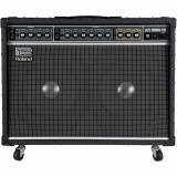 """Amplificador combo guitarra estéreo de 120 watts, parlantes 2x12"""" con reverberación y vibrato con control de velocidad y profundidad"""