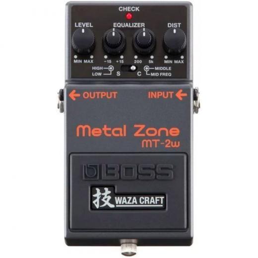 Pedal de efectos de guitarra de distorsión con 2 modos, ecualizador de 3 bandas y buffer premium