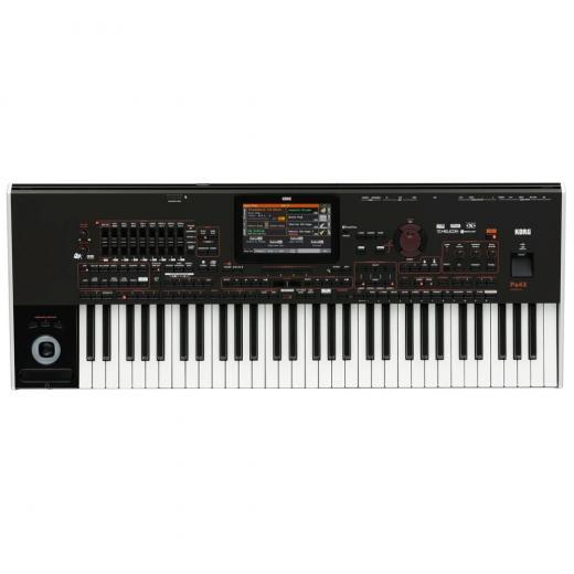 Sintetizador arreglador de 61 teclas con acción semi-ponderada, secuenciador de 16 pistas, más de 500 estilos y más de 1,500 sonidos
