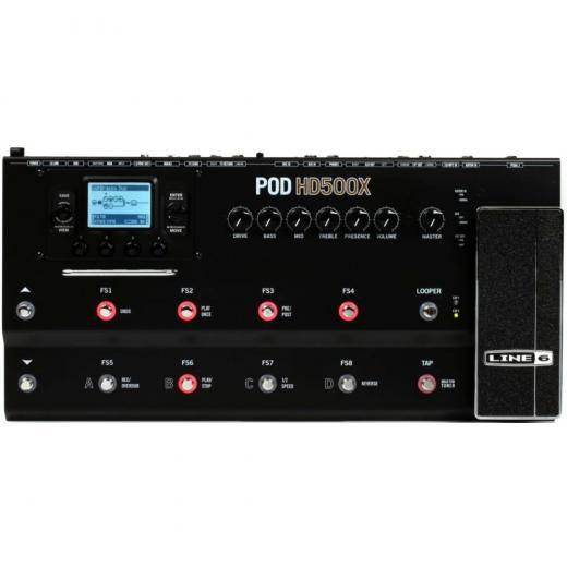 Emulación de amplificador de guitarra y pedal multiefectos con 12 pedales, pedal de expresión, carcasa de aluminio, modelos de 30 amplificadores / gabinetes, más de 100 modelos de efectos y loop incorporado de 48 segundos