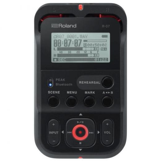 Grabador portátil de 24 bits / 96 kHz con micrófonos estéreo, batería de larga duración y herramientas de práctica, 2 canales