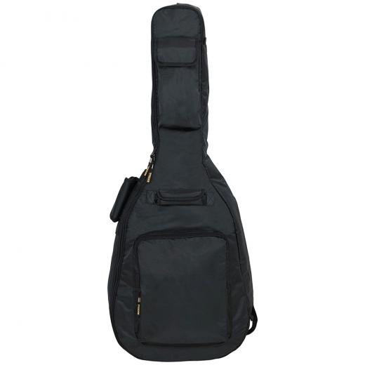 Funda acolchada de 25 mm para guitarras acusticas, con fondo reforzado con PVC con cierres de metal, material de superficie sólido y resistente al agua Rok Tex