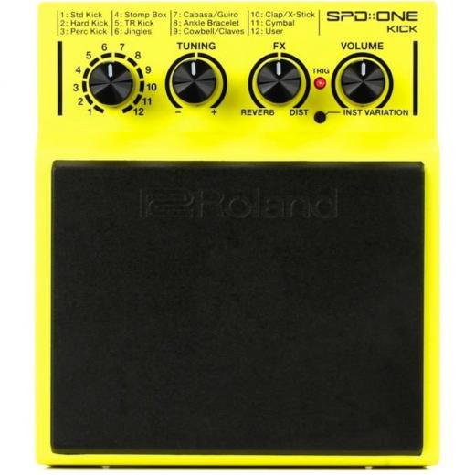 Pad de batería autónoma basada en muestras alimentada por batería con importación WAV a través de USB, 22 sonidos de percusión Classic Kick and Stomp, efectos integrados y hardware de montaje