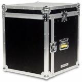 Rack case para montaje de 8 unidades, madera contrachapada, refuerzos de aluminio, manillas reforzadas
