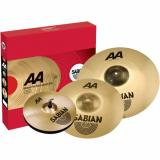 "Set de platillos de 4 piezas con crash 16"", Hi-hats (Par) 14"" , Ride 18"""