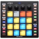 Superficie de control de hardware Groove Production con 16 almohadillas sensibles a la velocidad y la presión, 4 codificadores rotativos, modos de mensaje de aftertouch polifónico.
