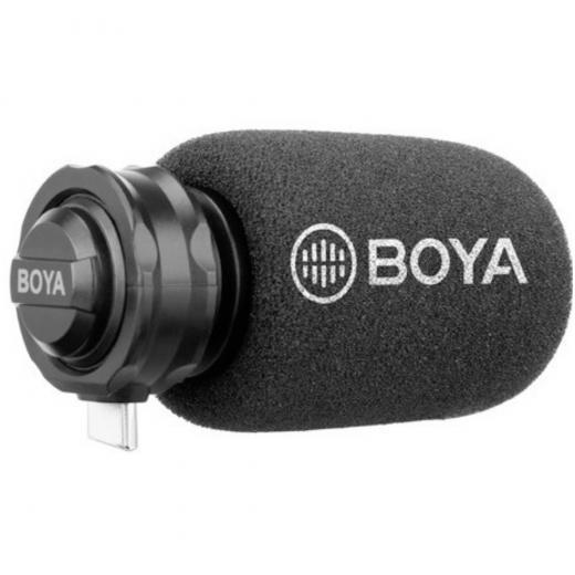 Micrófono de condensador estéreo, compatible dispositivo android con conector USB-C, dos cápsulas de micrófono incorporadas