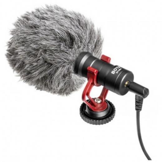 Micrófono cardioide, diseñado especialmente para mejorar la calidad del sonido de los videos sobre la base de micrófonos incorporados.