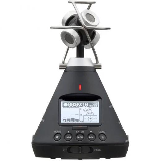 Grabador de audio VR de 360 grados, con matriz de Ambisonic de 4 micrófonos, detección automática de posición de micrófono y codificación / decodificación incorporada
