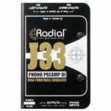 Preamp y Direct Box Activa Combinada Stereo de 2 canales , Entradas estéreo RCA, Salida balanceada XLR