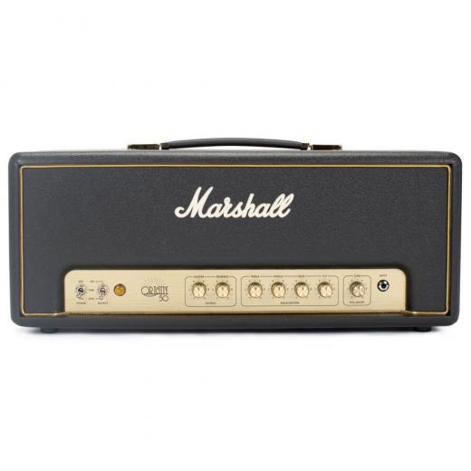 Cabezal de amplificador de guitarra de 50 watts, 1 canal con ecualizador de 3 bandas, control de inclinación, potencia de salida conmutable de 5W / 10W / 50W, bucle FX, aumento de ganancia e interruptor de pedal