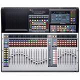 Mezclador digital compacto de 32 canales con 32 preamplificadores de micrófono, 25 atenuadores motorizados, interfaz de audio USB de 64 entradas / 64 salidas, redes AVB, motor FLEX DSP, grabadora de tarjeta SD, control DAW y paquete de software