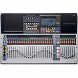 Mezclador digital de 64 canales con 32 preamplificadores de micrófono, 33 faders motorizados, interfaz de audio USB de 64 entradas / 64 salidas, conexión en red AVB, motor FLEX DSP, grabadora de tarjetas SD, control DAW y paquete de software