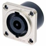 Conector de chasis de 8 polos, panel cuadrado de metal de níquel tamaño G, bloqueo que hace contacto solo una vez que está completamente bloqueado.