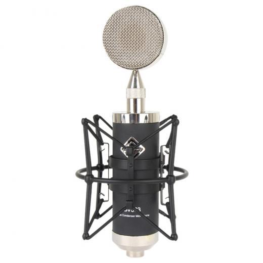 Sistema de micrófono con funcion de cápsulas intercambiables opcionales, tres cápsulas cardioides de 32 mm, 34 mm, 35 mm, tubo 7025 de alta calidad que funciona para ofrecer un bajo nivel de ruido