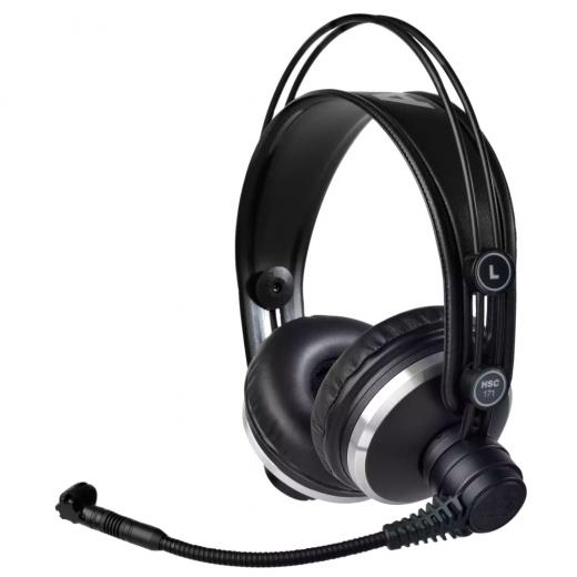 Combina los auriculares de estudio K171 MKII con un micrófono de condensador de alto rendimiento, El micrófono se puede montar en el lado izquierdo o derecho