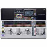 Mezclador digital de 32 canales con 32 preamplificadores de micrófono, 33 faders motorizados, interfaz de audio USB de 64 entradas / 64 salidas, conexión en red AVB, motor FLEX DSP, grabadora de tarjetas SD, control DAW y paquete de software