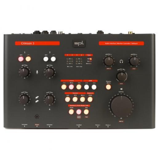 Interfaz de audio USB 2.0, 6 entradas / 6 salidas, 24 bits / 192 kHz; con 16 entradas, 2 preamplificadores de micrófono / instrumento, 2 amplificadores de auriculares, E / S MIDI, controlador de monitor y micrófono Talkback - Mac / PC / iOS