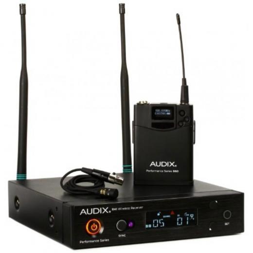 Receptor montable en rack R41, transmisor de cuerpo B60 ofrece un rendimiento inalámbrico versátil mas El ADX10 micrófono de calidad para voces e instrumentos banda A (522 - 554 MHz).