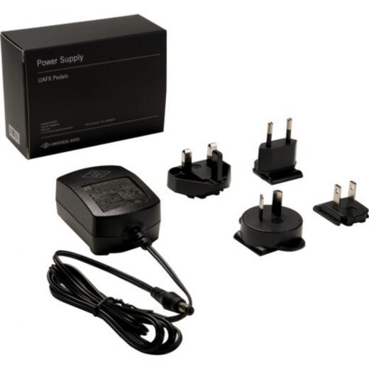 Fuente de alimentación para pedales UAFX, conector centro negativo, 400 mA, Conector 2.1mm x 5.5 mm barrel