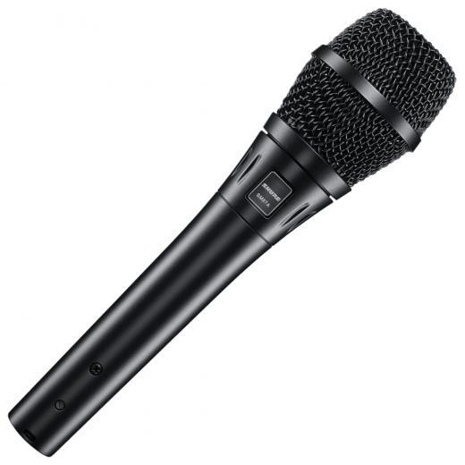 Micrófono vocal de condensador de mano con filtro pop de 3 etapas, Tipo de micrófono condensador con patrón polar supercardioide, respuesta de frecuencia de 50Hz-20kHz y Max SPL: 140.5dB