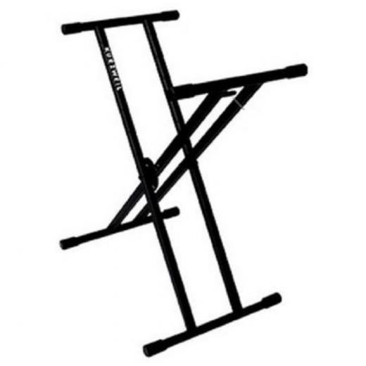 Soporte de teclado estilo X de doble refuerzo portátil, Altura:rango 59 - 100 cmm