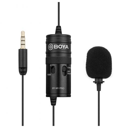 Micrófono condensador omnidireccional Clip de un solo cabezal para Smartphone DSLR videocámara Audio grabadora PC dispositivo de grabación