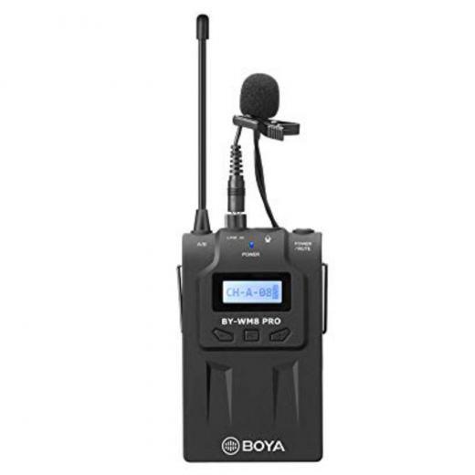 Transmisor inalámbrico digital con micrófono de solapa, compatible con RX8 Pro y SP-RX8 Pro (el receptor se vende por separado).  Totalmente compatible con el Kit contenido en el BY-wm8 Pro K1.