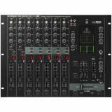 Mezclador de DJ de 7 canales con interfaz de audio USB, salida de subgraves, función de conversación automática, crossfader óptico y ecualizador de 3 bandas