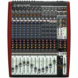 Mezclador analógico de 16 entradas y 4 buses con 8 preamplificadores y compresores de micrófono Xenyx, ecualizadores británicos, 2 procesadores multiefectos, grabadora USB de 16 pistas e interfaz USB / Firewire