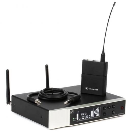 Sistema para instrumento digital inalámbrico con transmisor de bolsillo, cable de instrumento, receptor, kit de rack y accesorios, Banda R1-6 (520-576MHz)