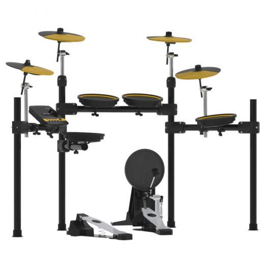 """Pads de malla de 8"""" en tambores, platillos de 10"""" environmental silicon, Pantalla LCD: 128X64"""