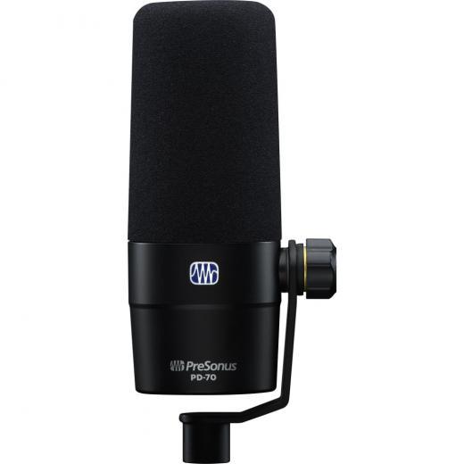 Micrófono dinámico de dirección frontal, Para radiodifusión, podcasting y VO, Patrón polar cardioide, Montaje rigido integrado