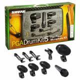 Set de micrófonos de batería de 5 piezas con Shure PGA52, 3 Shure PGA56s, Shure PGA57, clip, soportes, cables y estuche