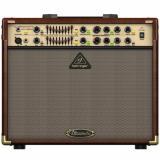 "Amplificador combo de guitarra acústica de 180 watts Estereo, 2 canales,  parlantes 2x8"", Ecualizadores gráficos duales de 9 bandas para modelar el tono"