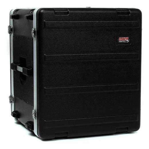 """Case rack moldeada de 12U con 19"""" de profundidad, pestillos giratorios y cubiertas frontal y trasera con bloqueo"""
