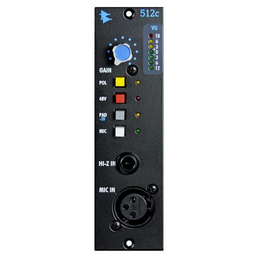 Preamplificador de micrófono con 65dB de ganancia, Acceso a la entrada de micrófono del panel frontal y posterior, Preamplificador de línea / instrumento con 50 dB de ganancia