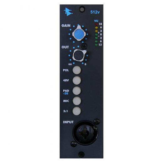 Preamplificador de micrófono / línea / instrumento, serie 500, control de nivel de salida e interruptor de toma de transformador de salida 3: 1