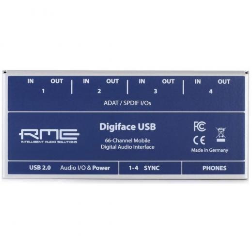 Interfaz de audio digital USB de 32 entradas / 32 salidas, 24 bits / 192 kHz con 4 entradas / salidas ópticas y alimentación de bus - Mac / PC