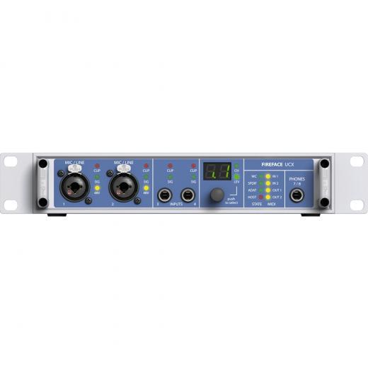 Interfaz de audio híbrida USB 2.0 / FireWire 400 de 18 canales con DSP integrado, convertidores Hammerfall remodelados, ADAT óptico, S / PDIF